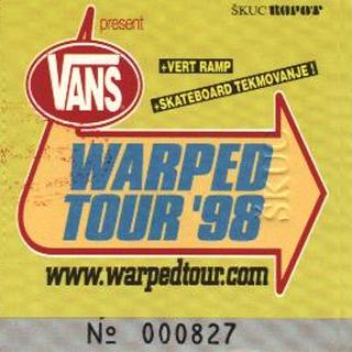 Vans warped Tour / Festivals Tourposter
